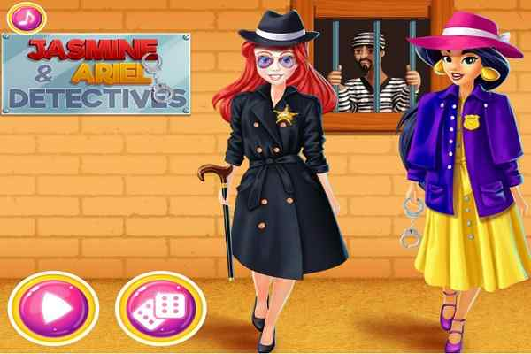 Play Ariel and Jasmine Detectives