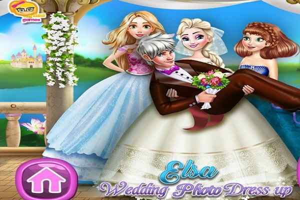 Play Elsa Wedding Photo Dress Up