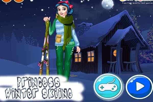 Play Princess Winter Skiing