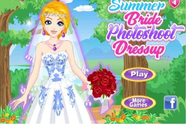 Play Summer Bride Photoshoot Dressup