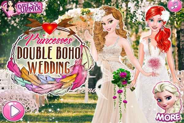 Play Princesses Double Boho Wedding
