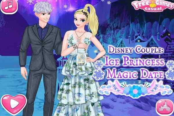 Play Ice Couple Princess Magic Date
