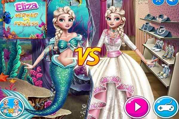 Play Elsa Mermaid Vs Princess