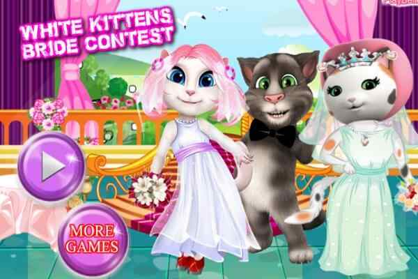Play White Kittens Bride Contest