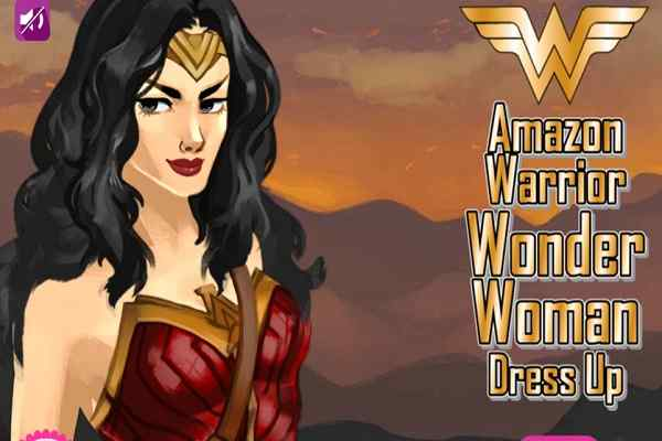Play Amazon Warrior Wonder Woman Dress Up