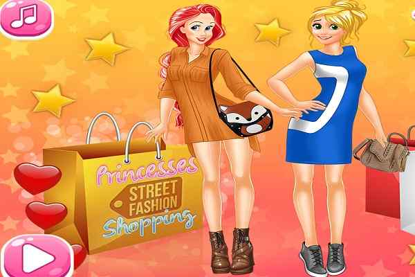 Play Princesses Street Fashion Shopping