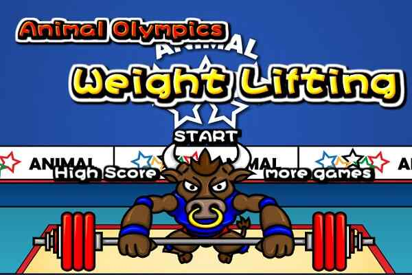 Play Animal Olympics - Weight Lifting
