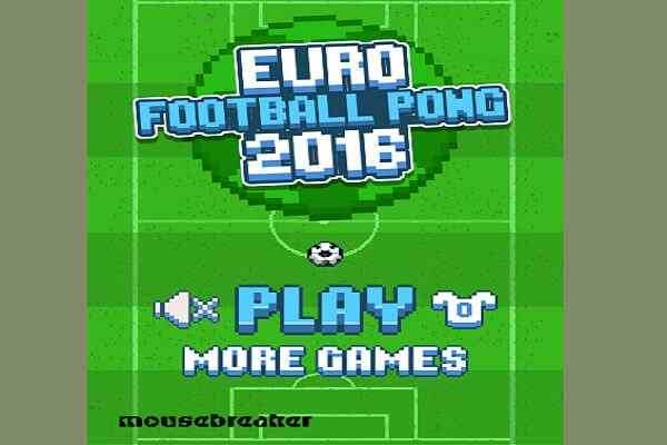 Play Euro Football Pong 2016