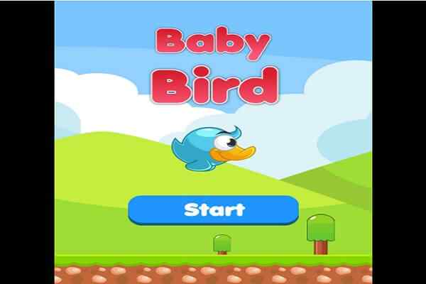 Play Baby Bird flies in the Sky