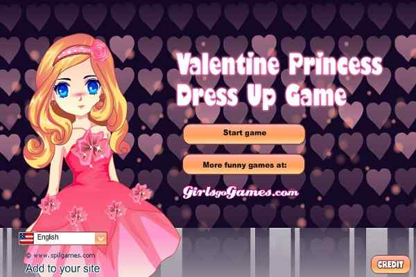 Play Valentine Princess Dress Up