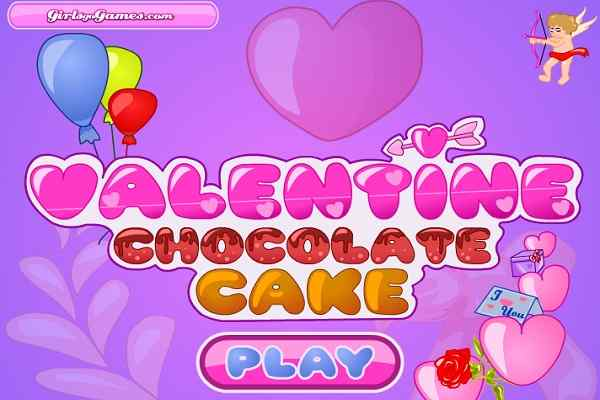 Play Valentine Chocolate Cake