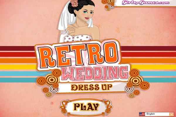 Play Retro Wedding Dress Up