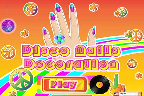 Play Disco Nails Decoration