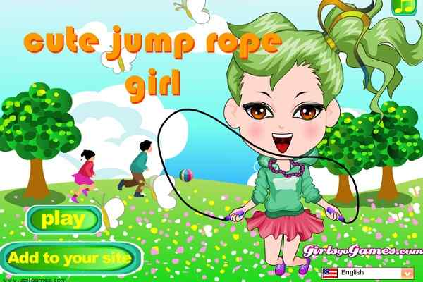 Play Cute JumpRope Girl Dress Up