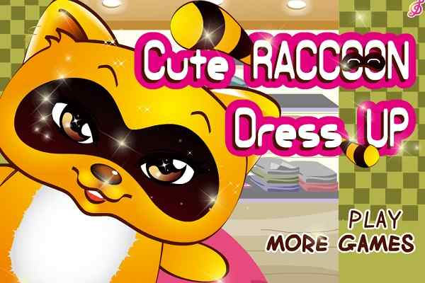Play Cute Raccoon Dress Up