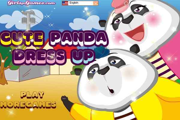 Play Cute Panda Dress Up