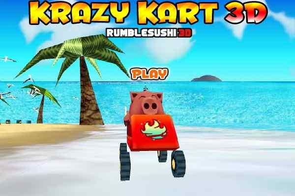 Play Krazy Karts 3D