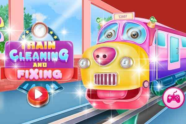 Play Train Cleaning And Fixing