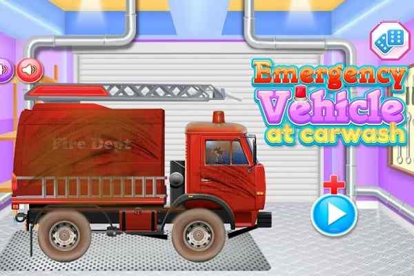 Play Emergency Vehicles Car Wash