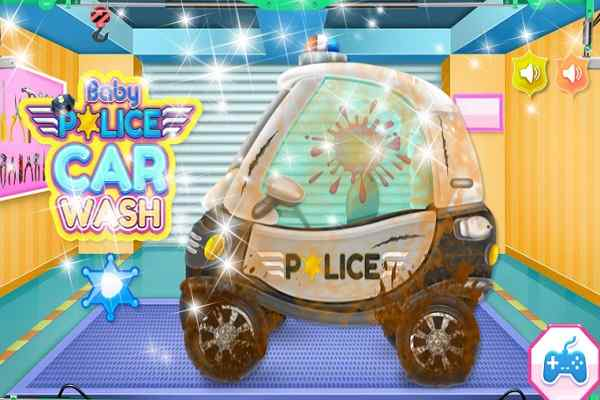 Play Baby Police Car Wash