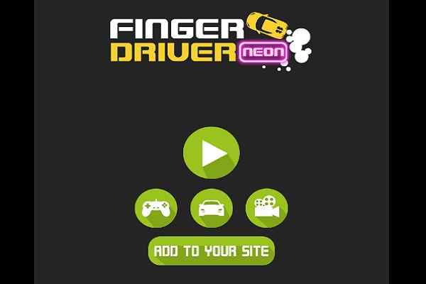 Play Finger Driver Neon