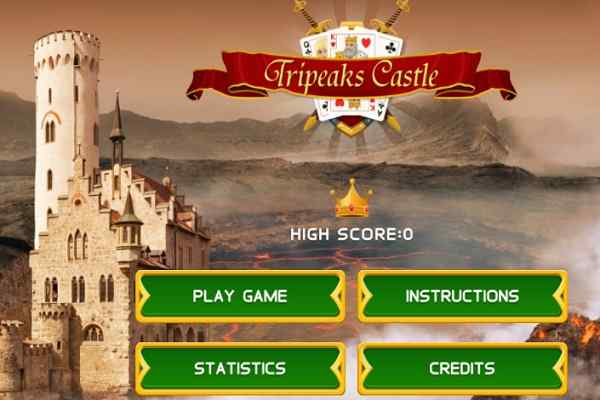 Play Tripeaks Castle Solitaire