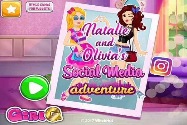 Play Natalie and Olivias Social Media Adventure