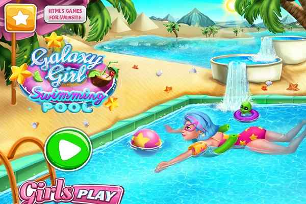 Play Galaxy Girl Swimming Pool