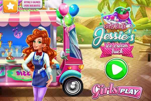 Play Girls Fix It Jessies Ice Cream Truck