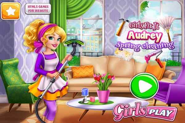Play Girls Fix It Audrey Spring Cleaning