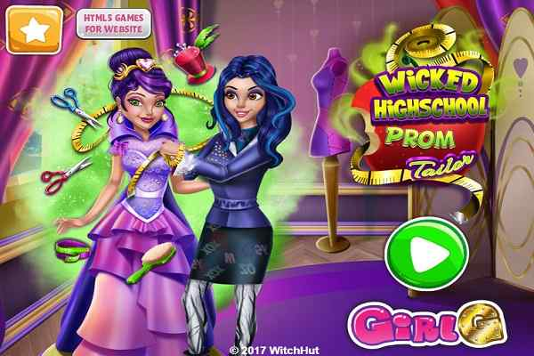 Wicked High School Prom Tailor Dressing Games Play Online Free