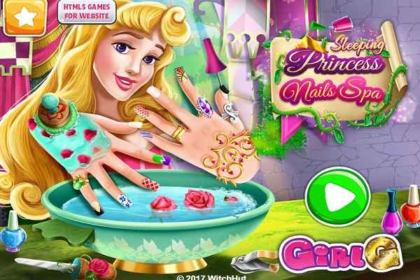 Play Sleeping Princess Nails Spa