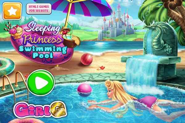 Play Sleeping Princess Swimming Pool
