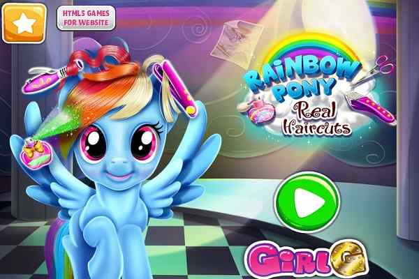 Play Rainbow Pony Real Haircuts