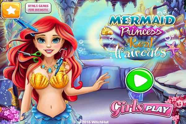 Play Mermaid Princess Real Haircuts