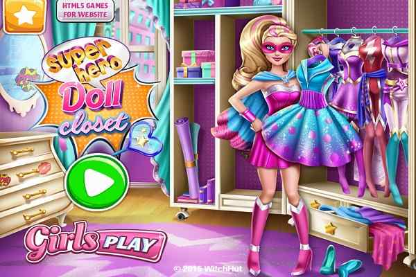 Play Superhero Doll Closet
