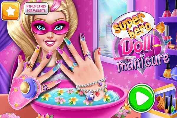Play Superhero Doll Manicure