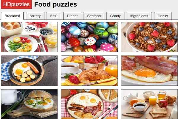 Play HDPuzzles Food