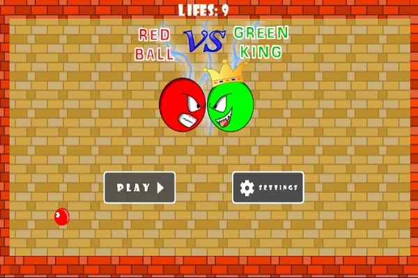 Play Red ball vs green king