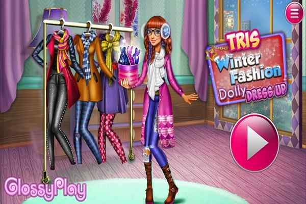 Play Tris Winter Fashion Dolly Dress Up