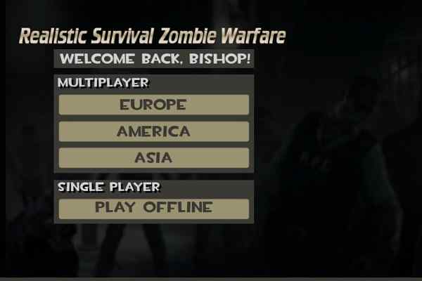 Play Realistic Zombie Survival Warfare