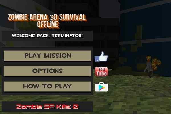 Play Zombie Arena 3d Survival Offline
