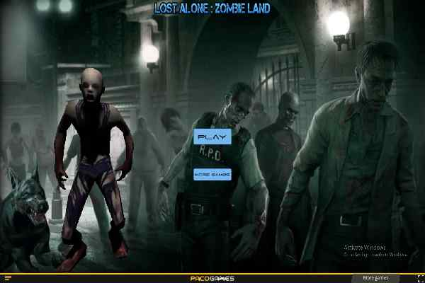 Play Lost Alone Zombie Land
