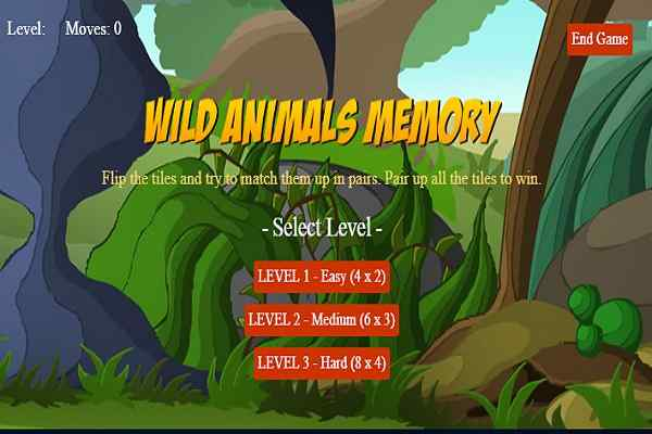 Play Wild Animals Memory