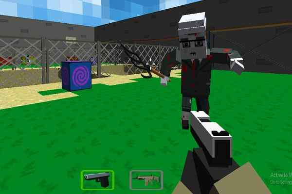 Play Cube Arena Zombie Warfare