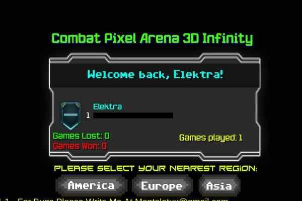 Play Combat Pixel Arena 3D Infinity