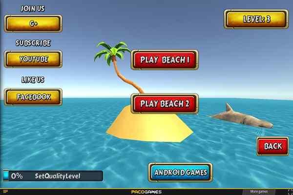 Play Shark Simulator Beach Killer