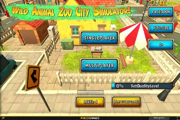 Play Wild Animal Zoo City Simulator