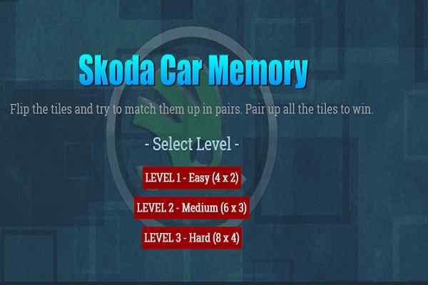 Play Skoda Car Memory