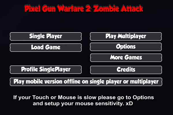 Play Pixel Gun Warfare 2 Zombie Attack